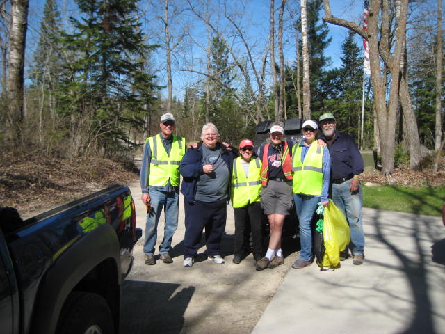 Adopt a Highway cleanup